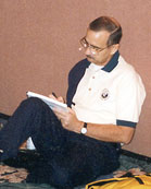 Bob signing a book at the 1998 IADRS Conference